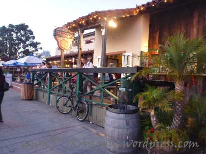 A restaurant at the Seaport Village