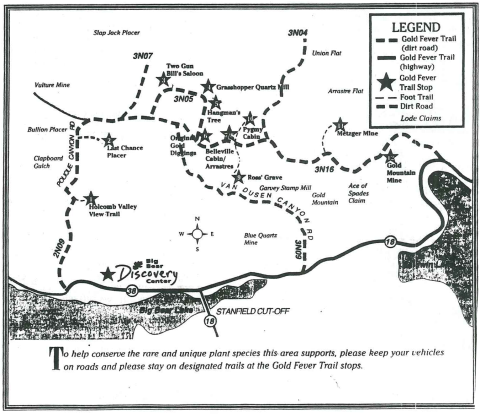 Holcomb Valley tour map-- uhhh... accurate, but extra information would be helpful