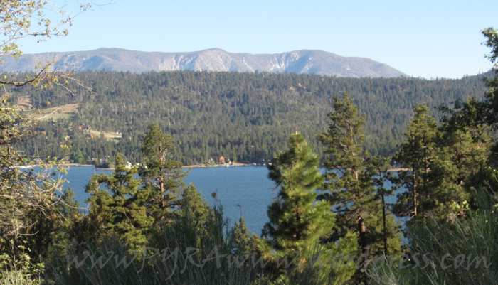 View of Big Bear Lake from Holcomb Valley