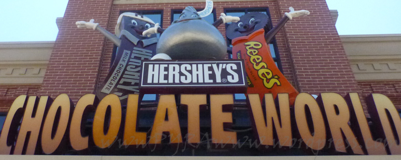Entrance sign into Chocolate World