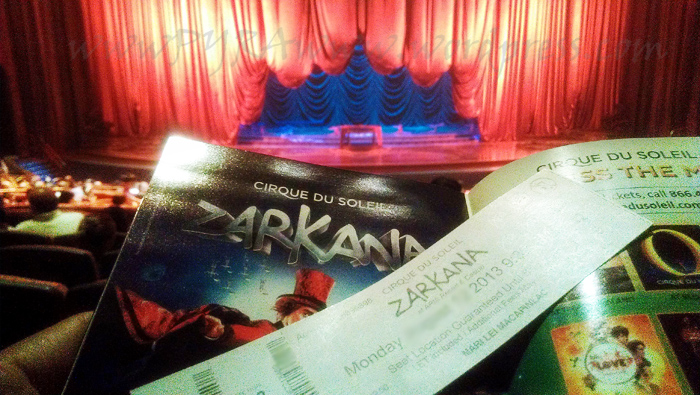 Zarkana - Stage Tickets