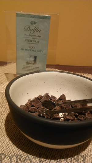 One of the chocolate samples