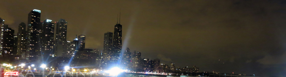View of the skyline from the Navy Pier