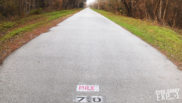 Van Fleet Trail - 7 mile marker
