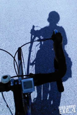 My biking shadow.