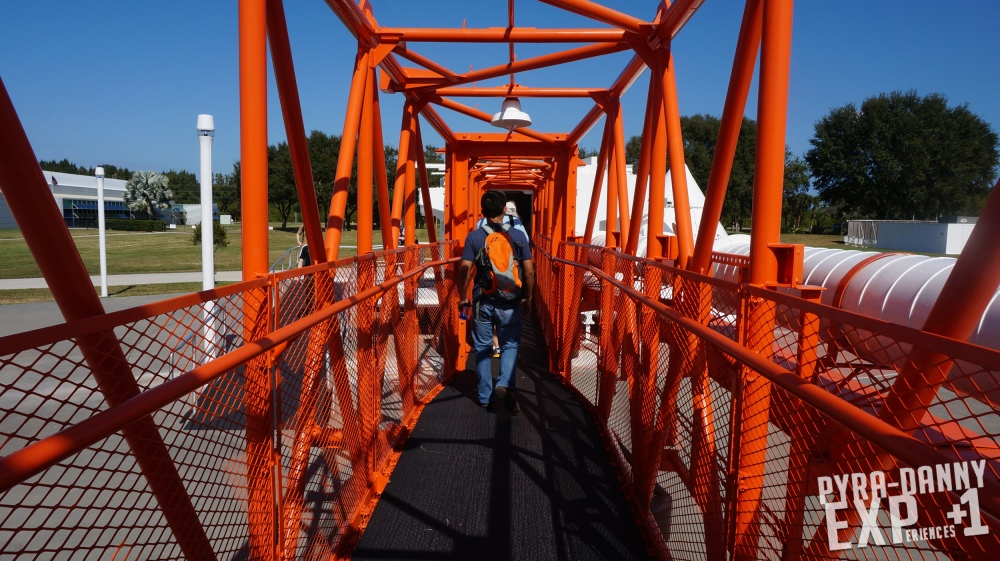 Kennedy Space Center - Visitor Complex - Orange scaffolding walkway [PyraDannyExperiences.com]