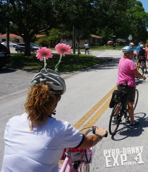 Bike leaders were recognizable [St. Pete Biking and Eating | PyraDannyExperiences.com]