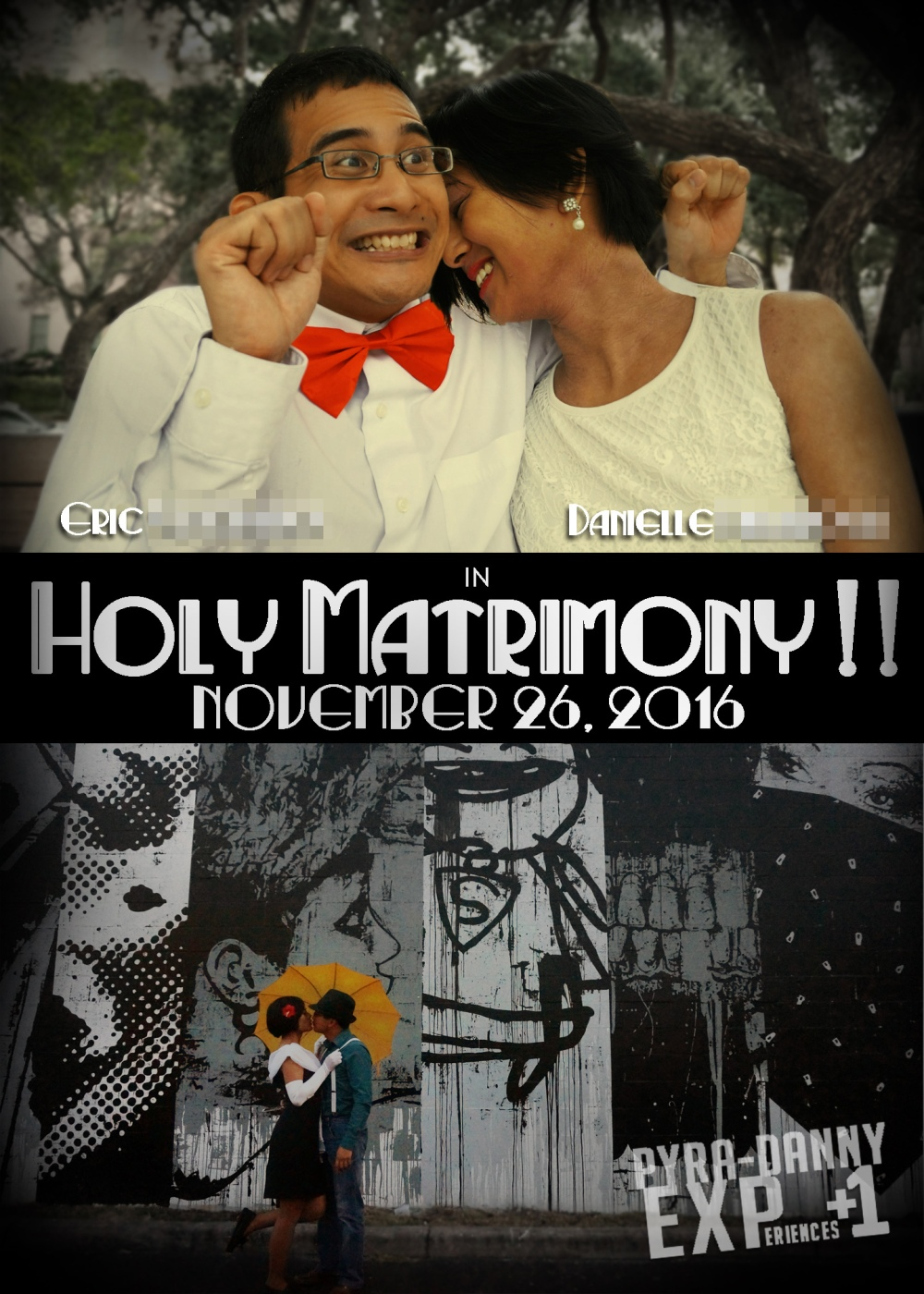 Holy Matrimony [150 More Days: DIY Save-The-Dates | PyraDannyExperiences.com]