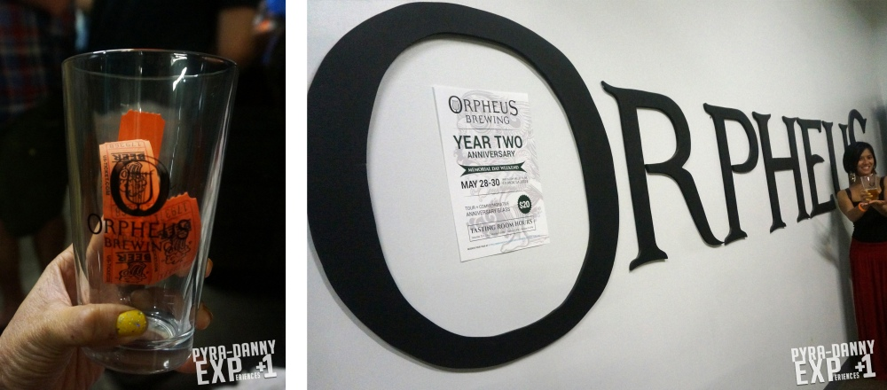 Orpheus Brewing tasting tickets and wall sign [Drinking Atlanta | PyraDannyExperiences.com]