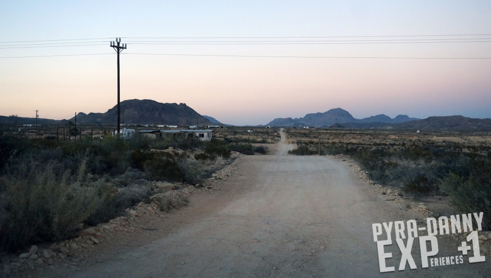 Unpaved Terlingua road [That Drive to Terlingua, TX | PyraDannyExperiences.com]