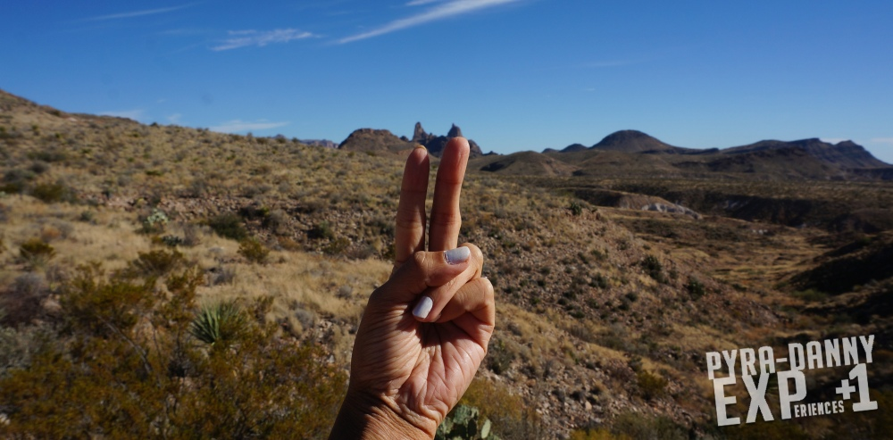 Mule Ears feature in the distance [Big Bend: Big Scenery | PyraDannyExperiences.com]