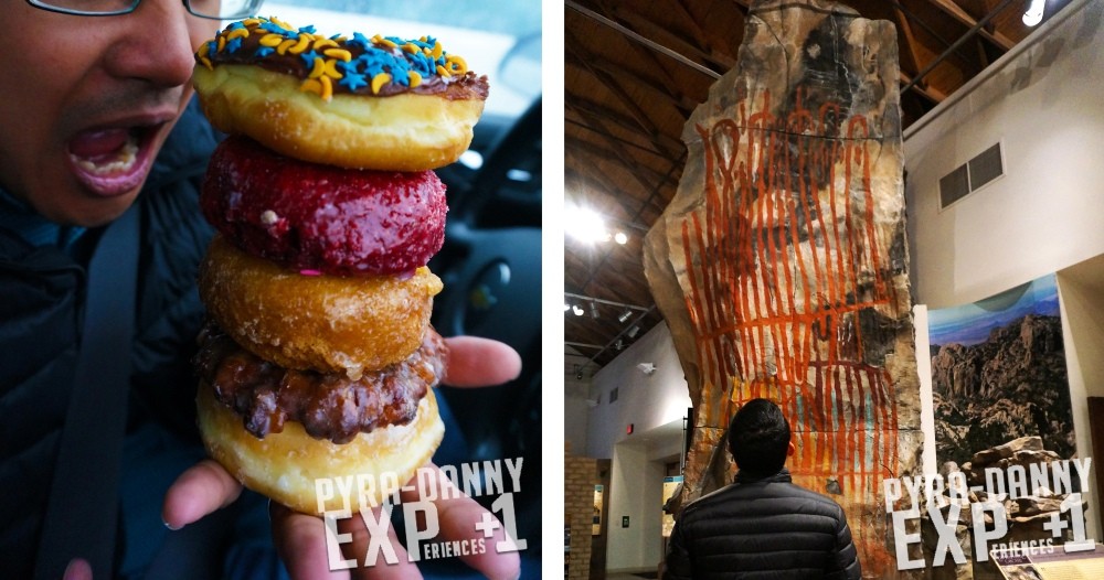 Bakers Dozen donuts and Big Bend Museum [Rainy Last Day in Alpine, TX | PyraDannyExperiences.com]