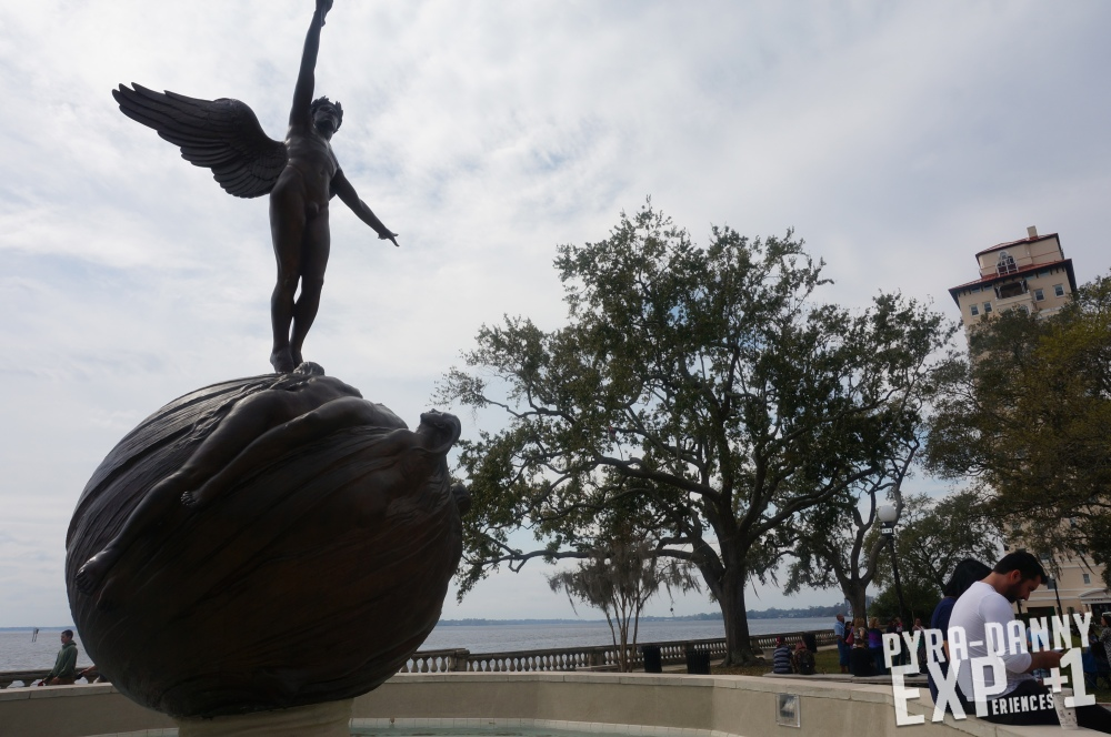Sculpture along the riverside [Jacksonville in 48 Hours | PyraDannyExperiences.com]