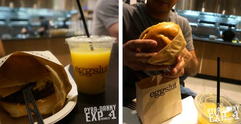 Breakfast sandwich from EggSlut [Las Vegas: Where on the Strip did I eat? | PyraDannyExperiences.com]