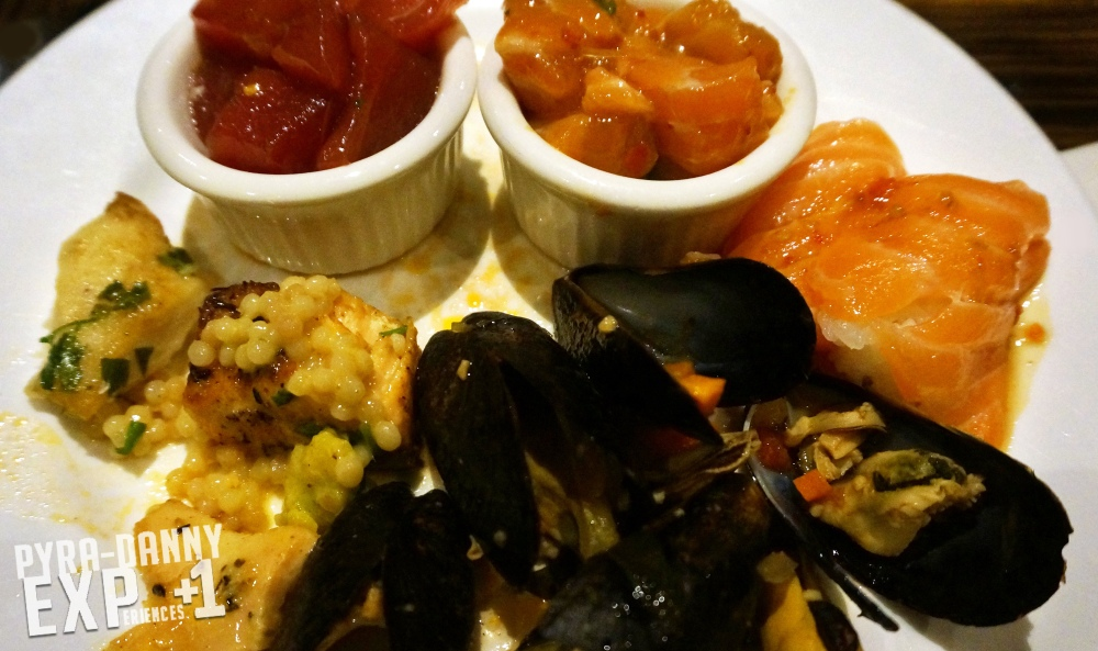 My seafood plate at the Bellagio Buffet [Las Vegas: Where on the Strip did I eat? | PyraDannyExperiences.com]