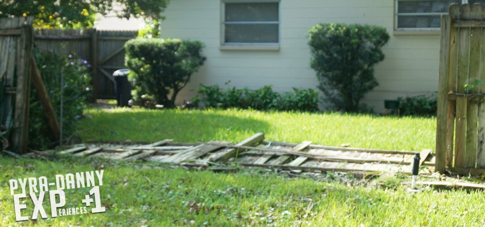 Downed fence [Keeping Sane After a Hurricane | PyraDannyExperiences.com]