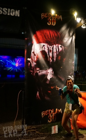 Bedlam 3D entrance sign [Get Yo' Screamageddon On | PyraDannyExperiences.com]