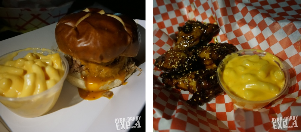 Food from Just Smoking BBQ [Dimly Lit- St. Pete Lantern Festival | PyraDannyExperiences.com]