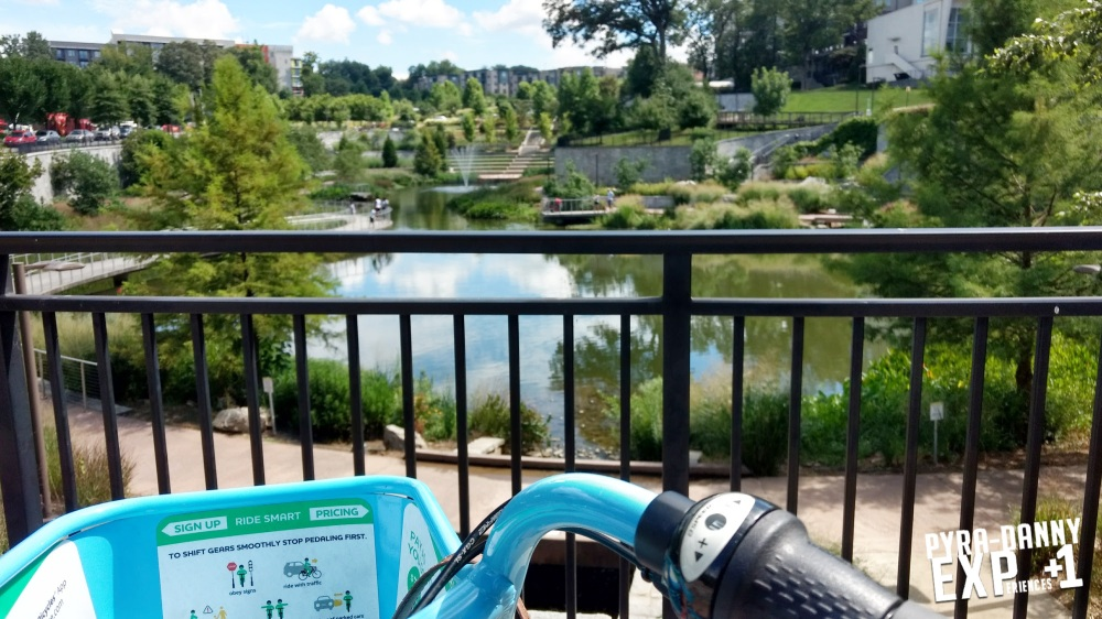 Fourth Ward Park with bike [Back to Atlanta | PyraDannyExperiences.com]