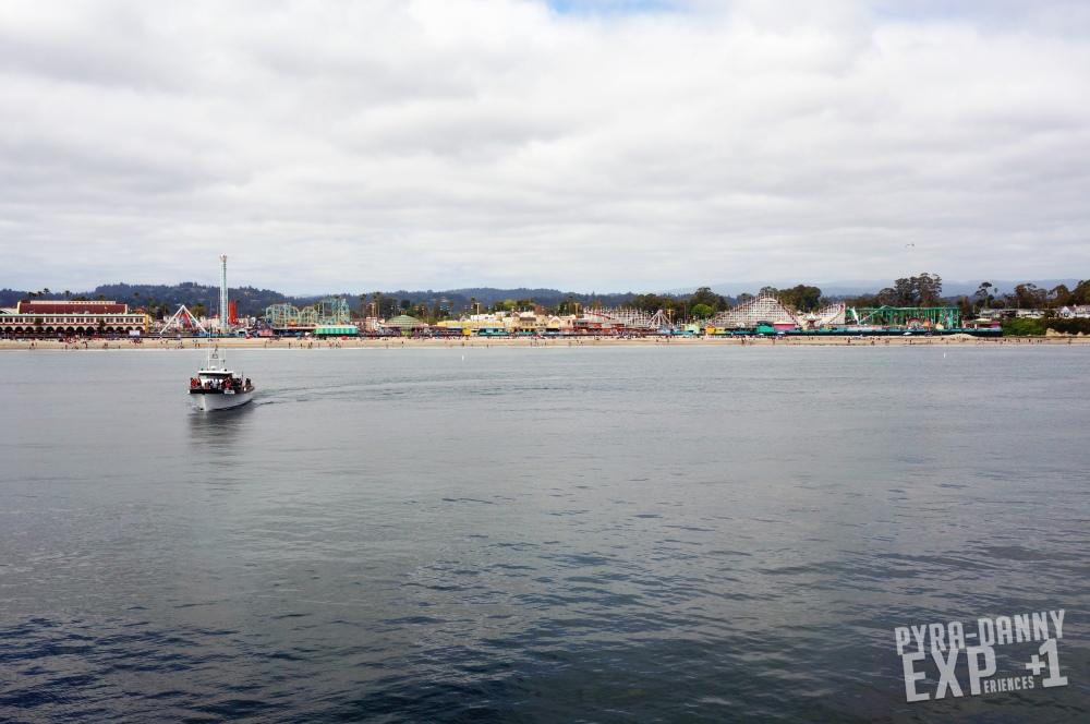 Santa Cruz boardwalk view of the amusement park [Exploring Santa Cruz | PyraDannyExperiences.com]